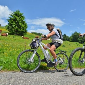 e-Bike on a mountain road