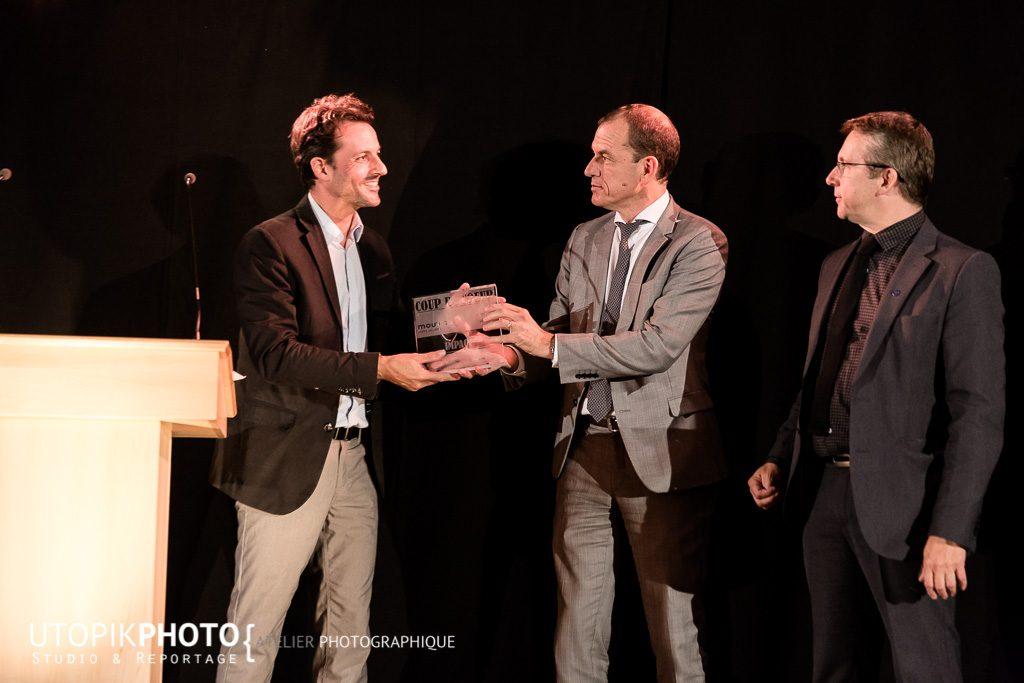 Trophée Impact Journées de la Mobilité Durable remis à Enerstone par Grenoble Alpes Métropole et Enedis Alpes